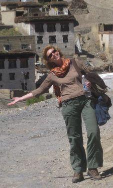 Lydia Atema in Kibber - India