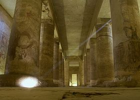Osiris tempel in Abydos
